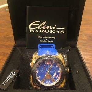 NEW Mens Elini Barokas Commander Chronograph Watch